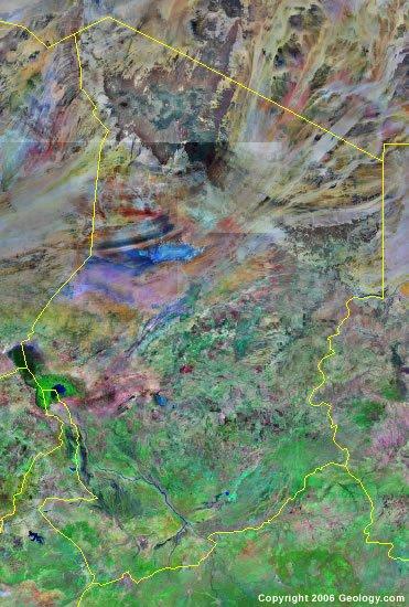 Chad satellite photo