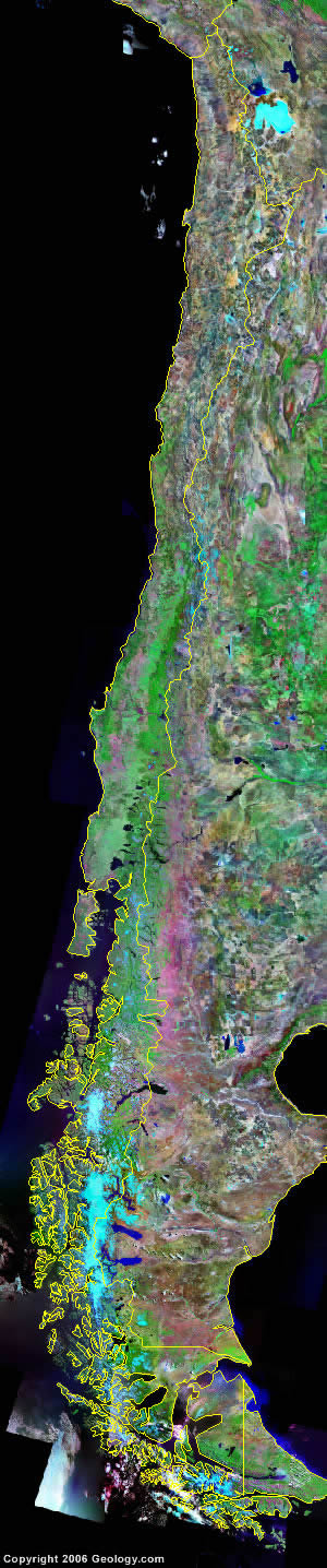 Chile satellite photo