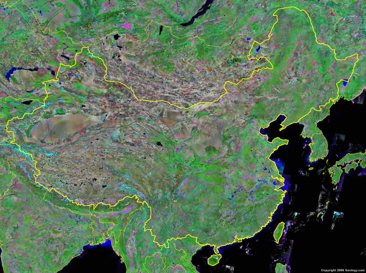China map and satellite image china satellite photo gumiabroncs Image collections