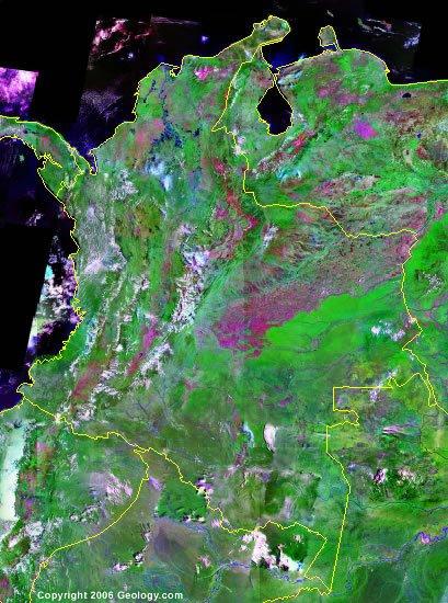 Colombia satellite photo
