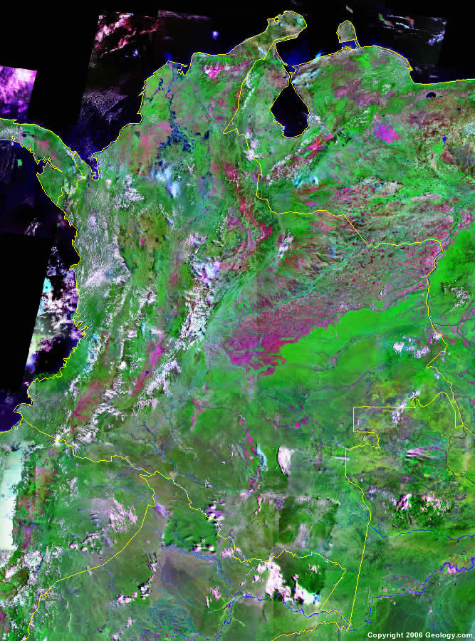 Colombia satellite photo