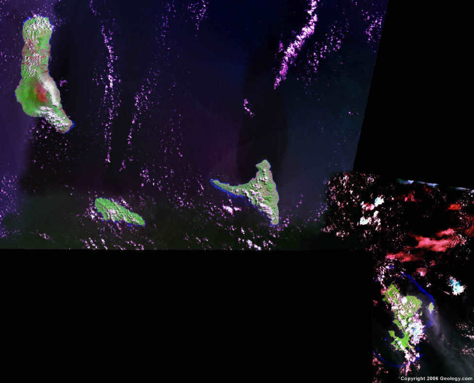 Comoros Islands satellite photo