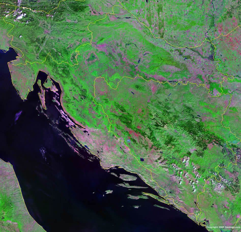 Croatia satellite photo