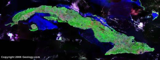 Cuba satellite photo