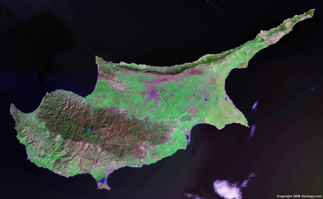 Cyprus map and satellite image cyprus satellite photo gumiabroncs Choice Image