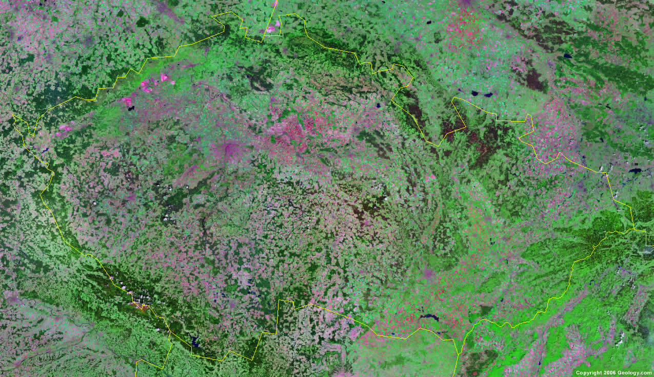 Czech Republic satellite photo