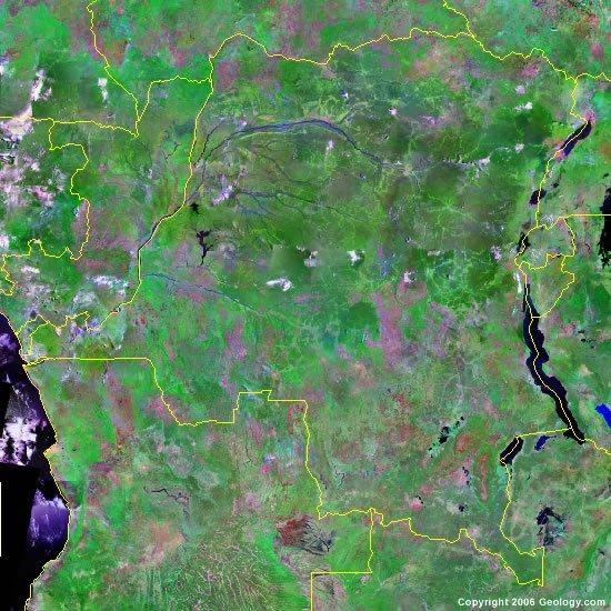 Democratic Republic of the Congo satellite photo