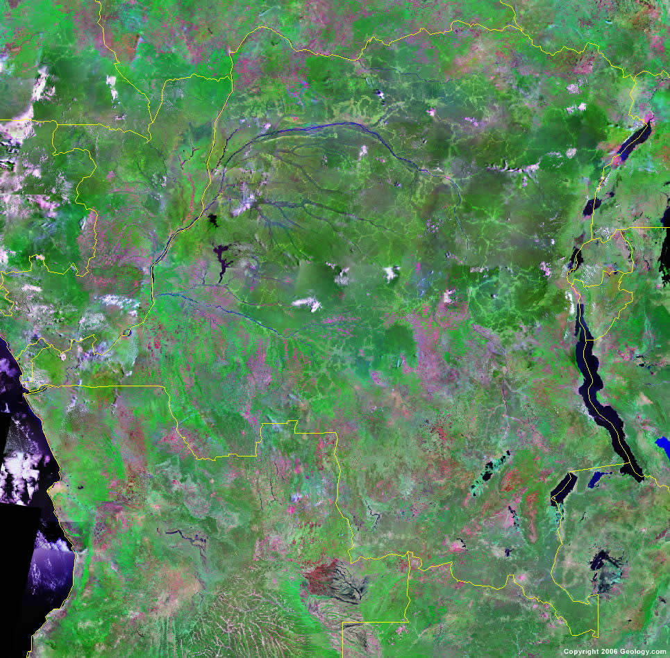 Democratic Republic of the Congo satellite photo