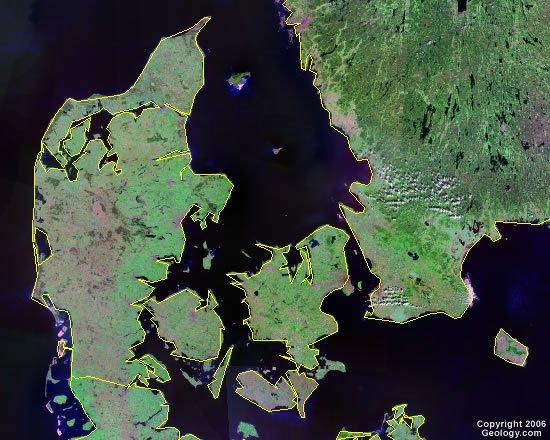 Denmark satellite photo