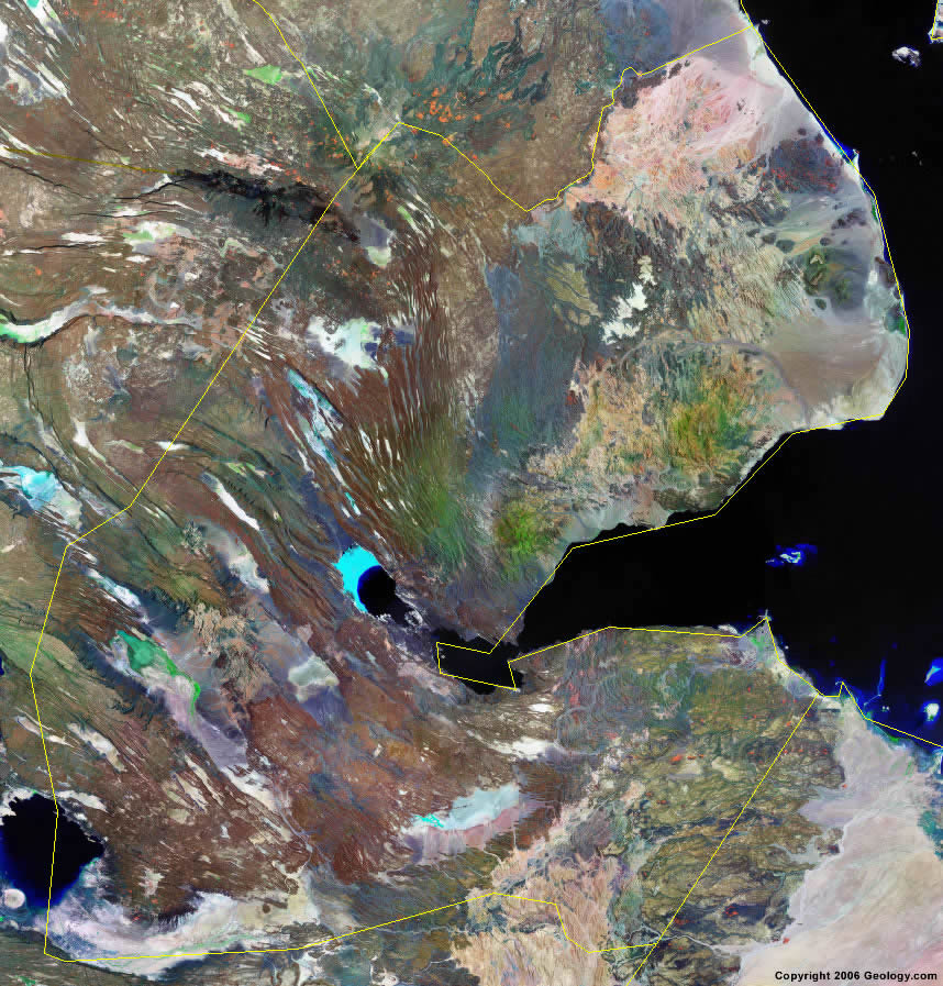 Djibouti satellite photo