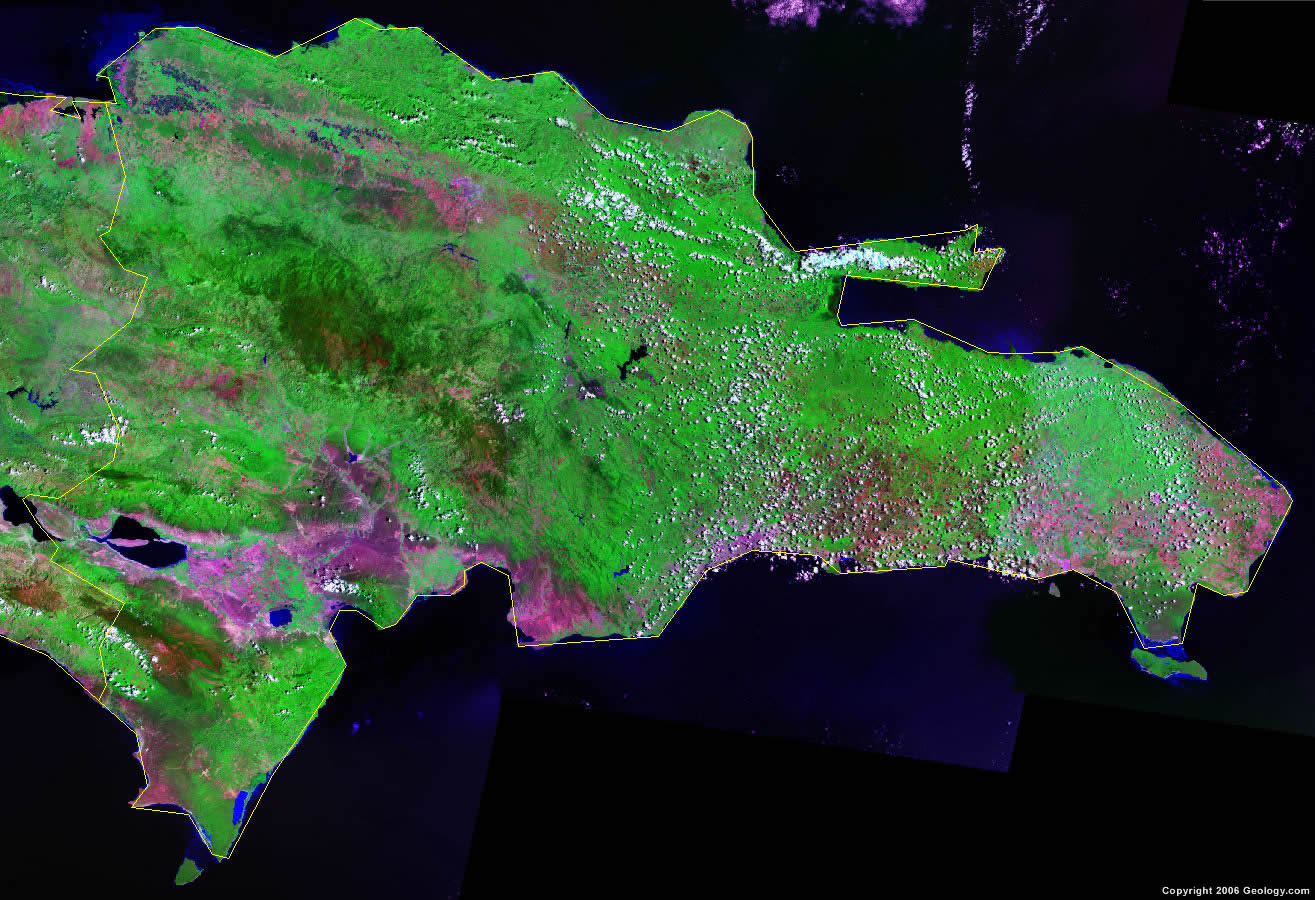 Dominican Republic satellite photo