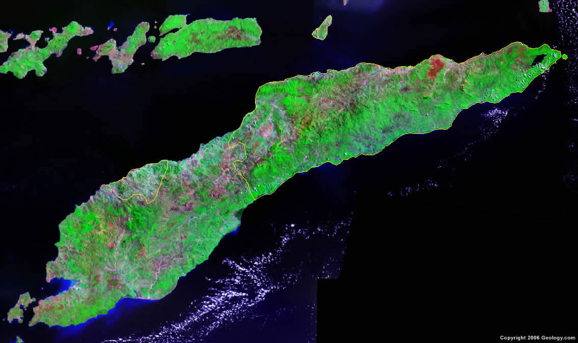 East Timor satellite photo