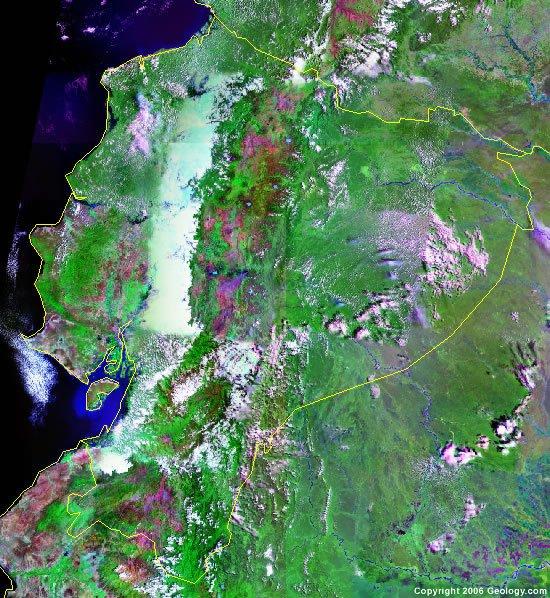 Ecuador satellite photo