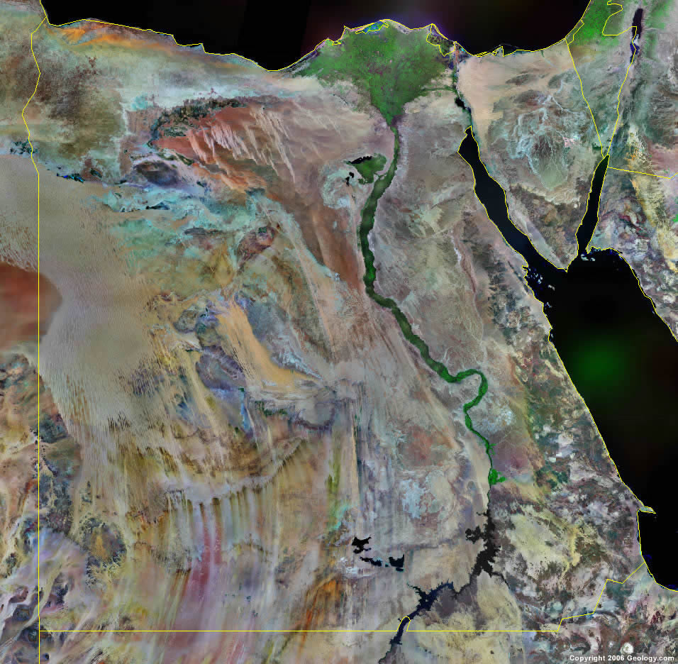 Egypt Map and Satellite Image