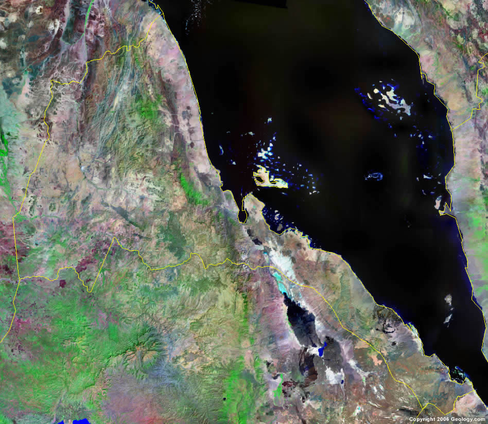 Eritrea satellite photo
