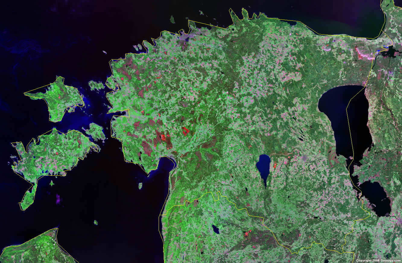 Estonia satellite photo