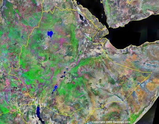 Ethiopia satellite photo