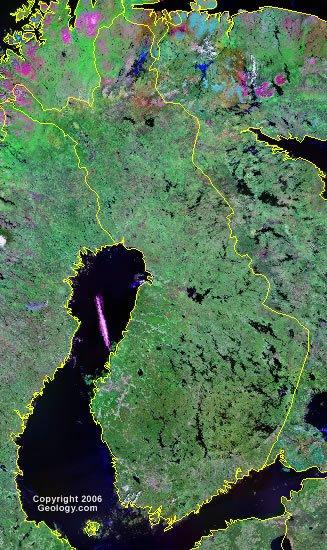 Finland satellite photo