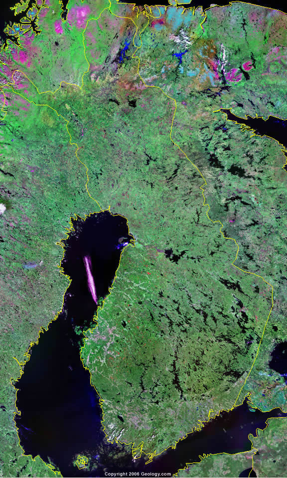Finland map and satellite image finland satellite image gumiabroncs Image collections