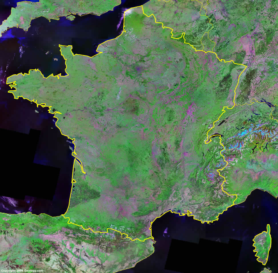 France satellite photo