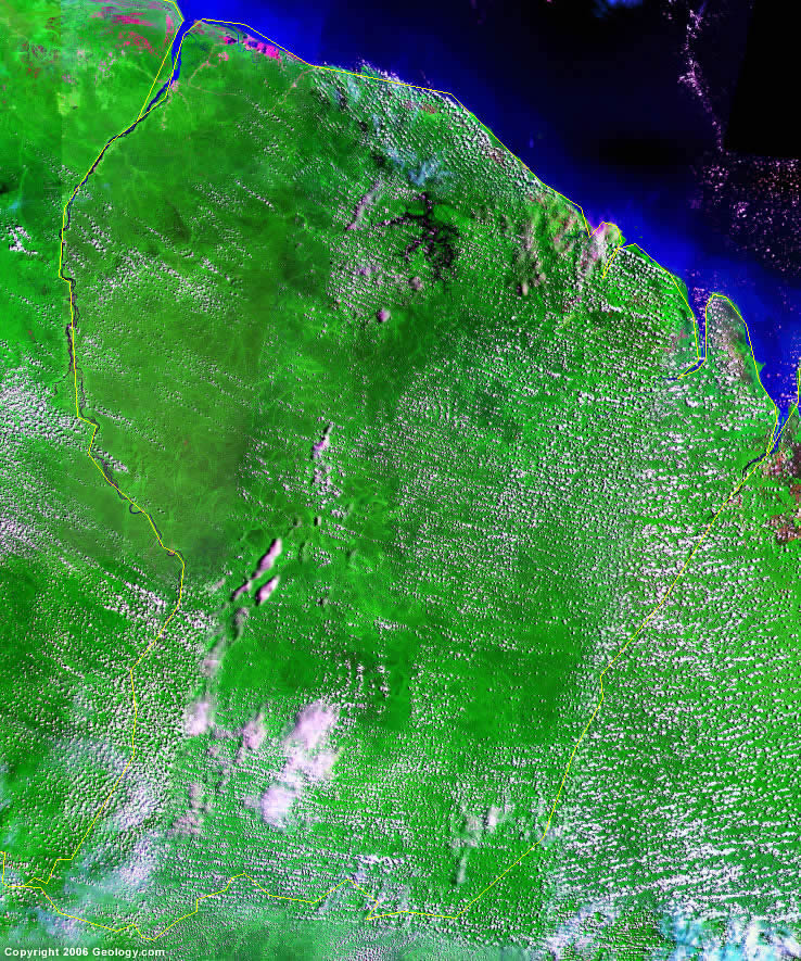 French Guiana satellite photo