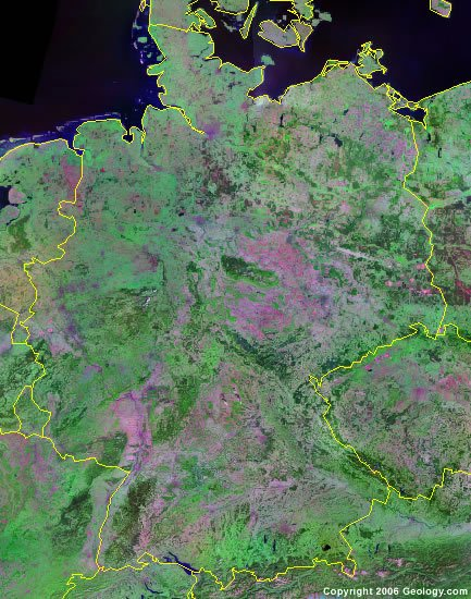 Germany satellite photo