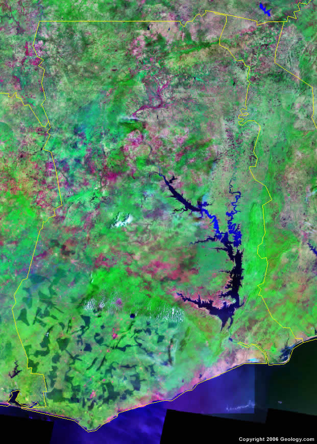 Ghana satellite photo