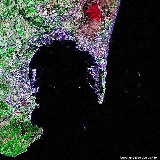 Gibraltar satellite photo