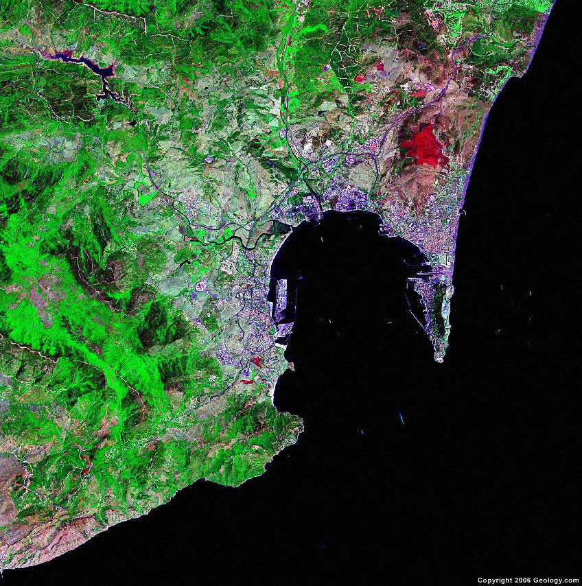 Gibraltar satellite photo