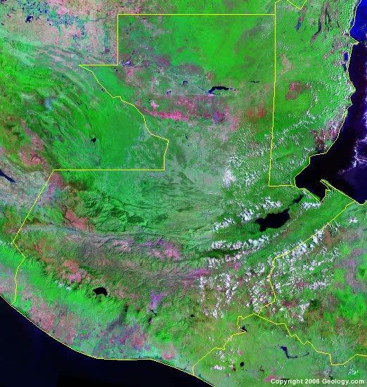 Guatemala satellite photo