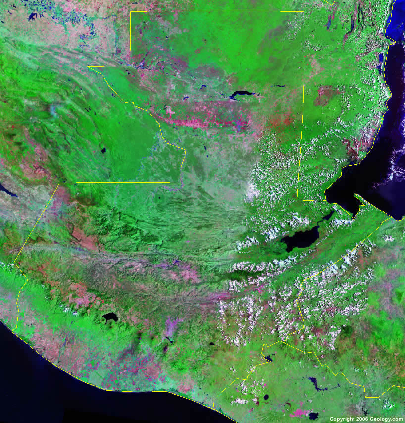 Guatemala Map and Satellite Image