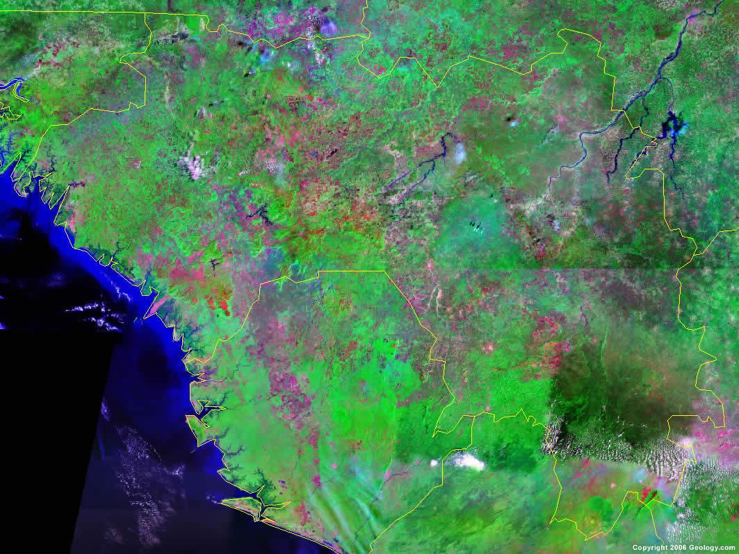 Guinea satellite photo