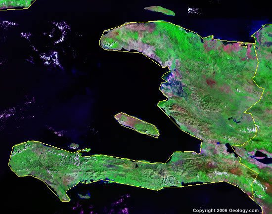 Haiti satellite photo