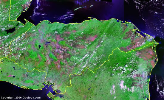 Honduras satellite photo