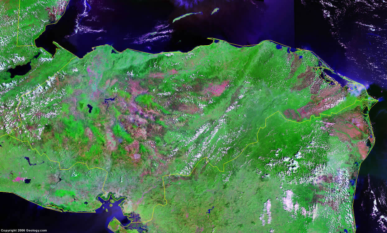 Honduras Map And Satellite Image - Hondurus map