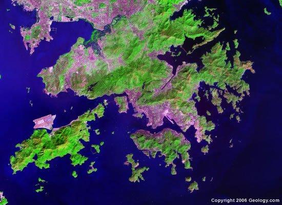 Hong Kong satellite photo
