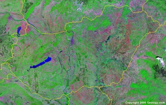 Hungary satellite photo
