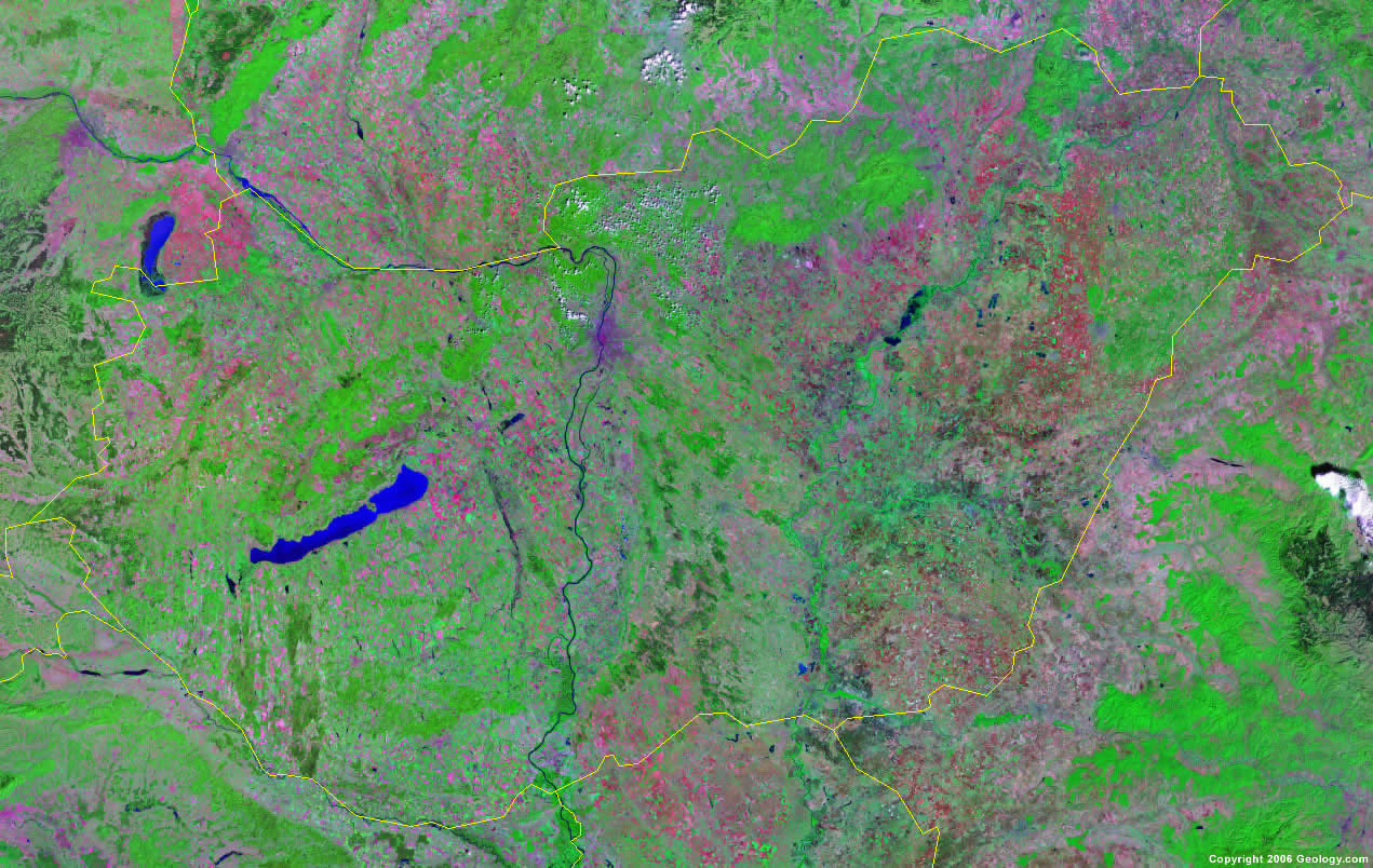 Hungary satellite photo