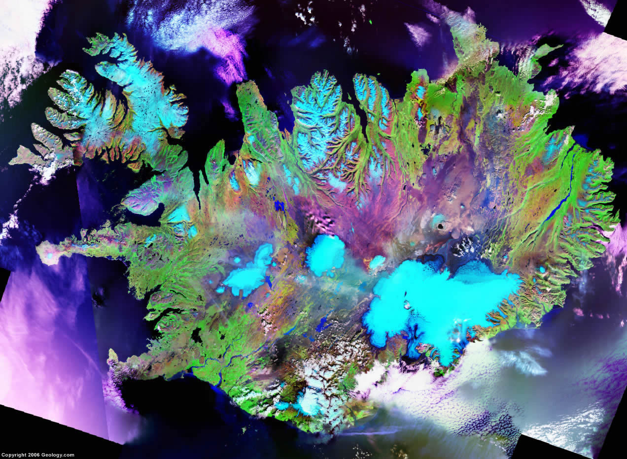 Iceland satellite photo