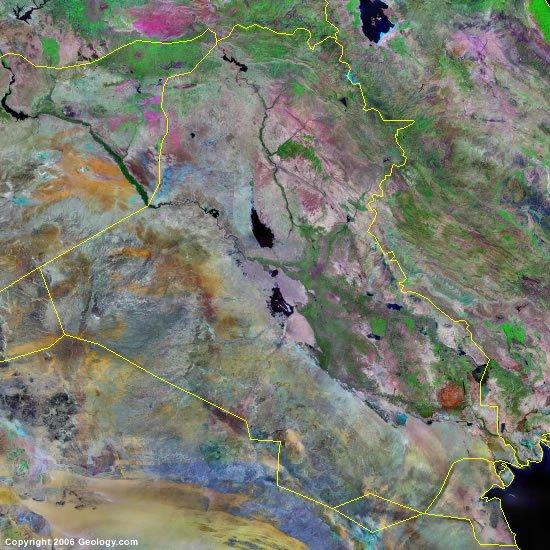 Iraq satellite photo