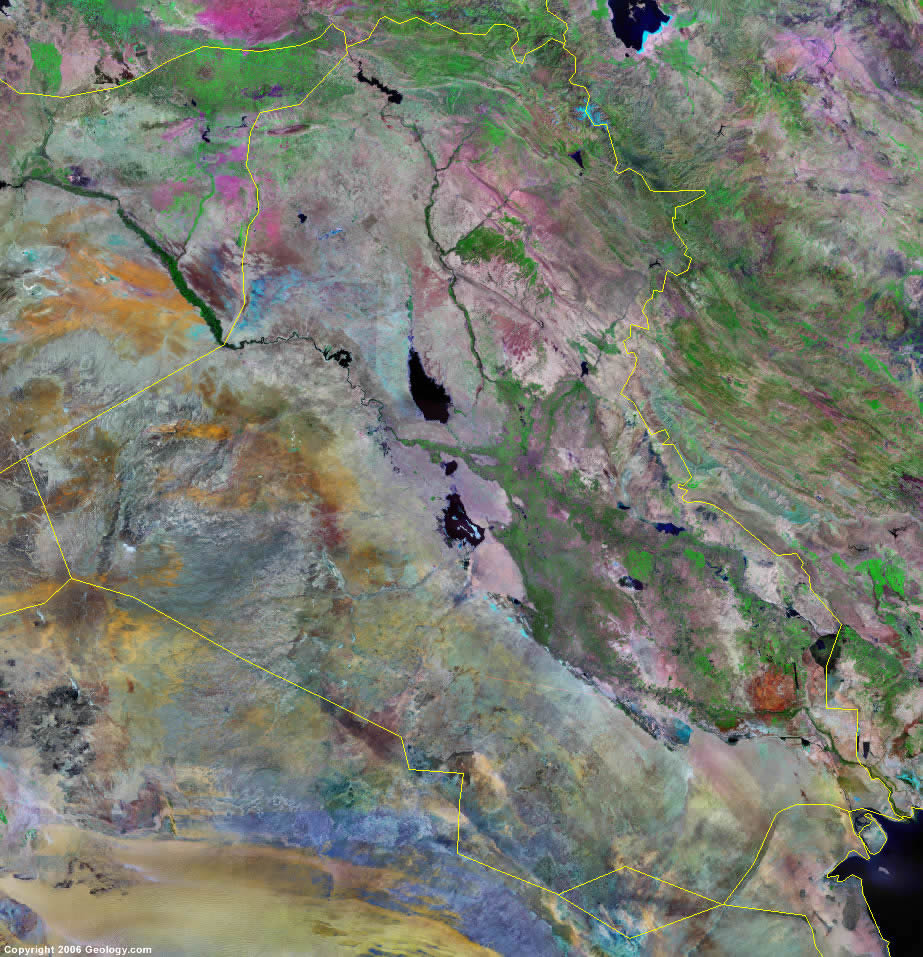 Iraq satellite photo