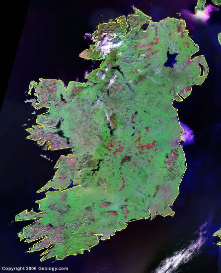Ireland satellite photo
