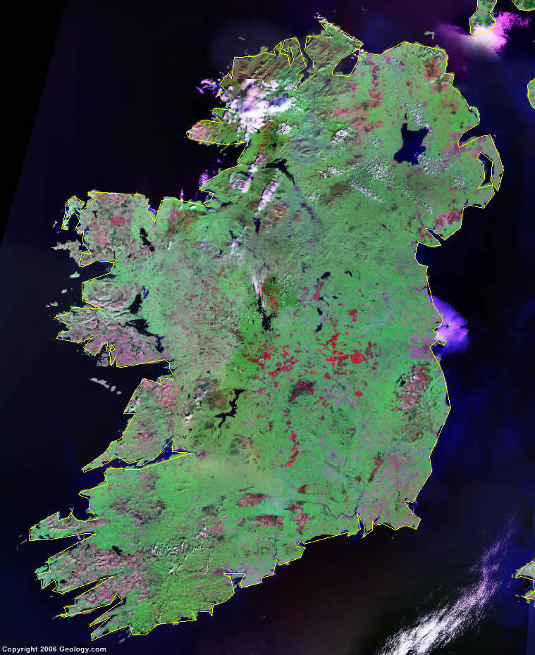 Satellite Map Of Ireland.Ireland Map And Satellite Image