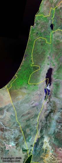 Israel satellite photo