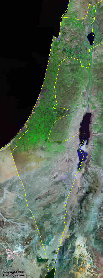 Israel Map And Satellite Image - Israel map