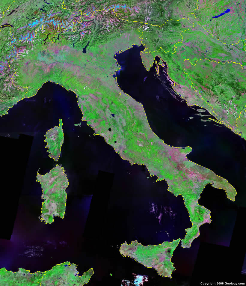 Italy satellite photo