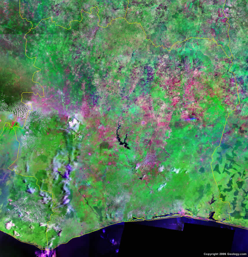 Ivory Coast satellite photo