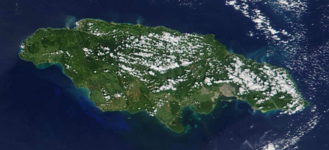 Jamaica satellite photo