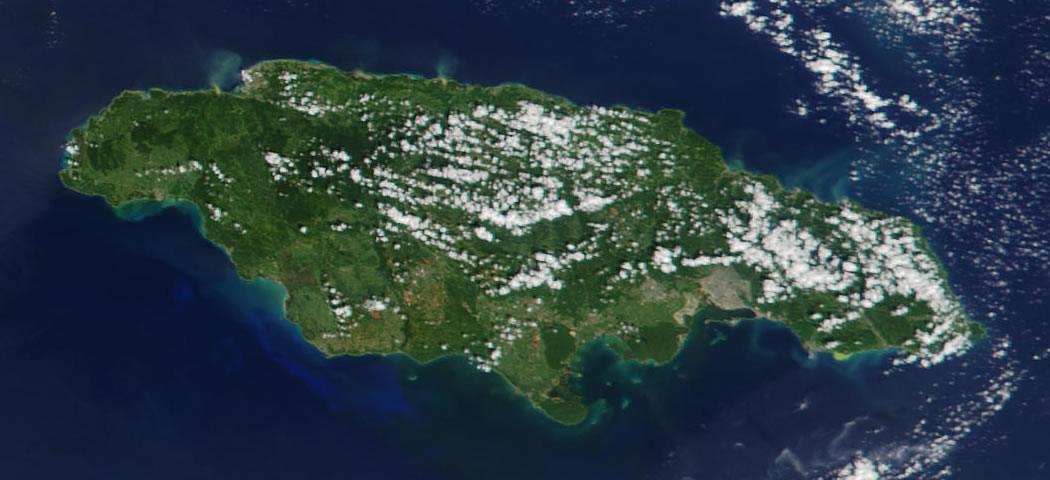 Jamaica satellite photo