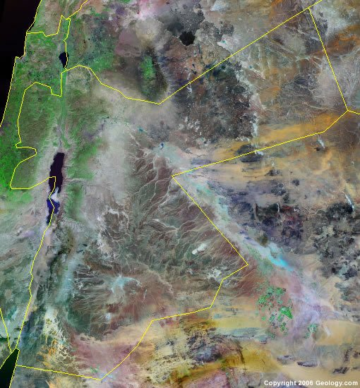 Jordan satellite photo